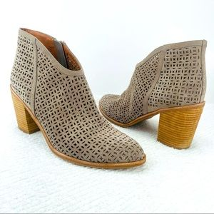 JEFFREY CAMPBELL MEDERA PERFORATED SUEDE BOOTIES